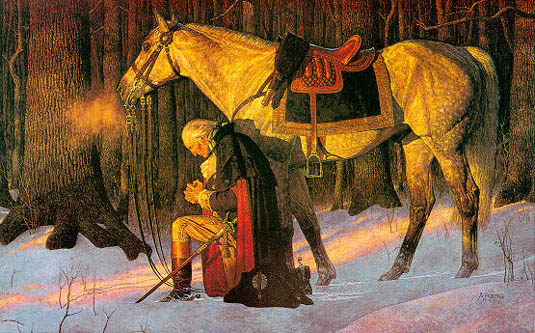 George Washington at prayer