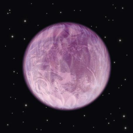 The Earth in a Sphere of the Violet Fire