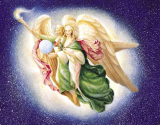 Archangel Raphael and Mary